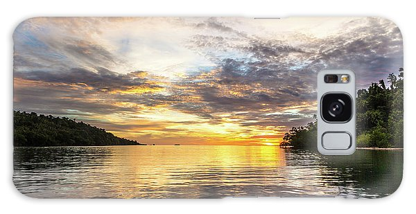 Stunning Sunset In The Togian Islands In Sulawesi Galaxy Case