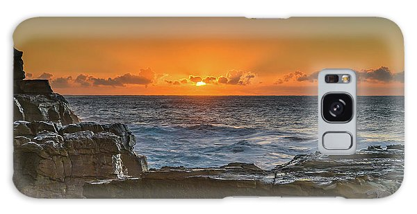 Sun Rising Over The Sea Galaxy Case