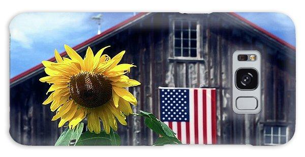 Sunflower By Barn Galaxy Case