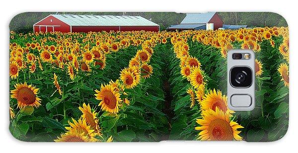 Sunflower Field #4 Galaxy Case by Karen McKenzie McAdoo