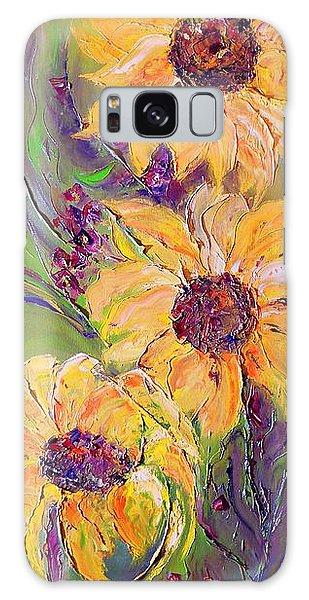 Sunflowers Galaxy Case by AmaS Art
