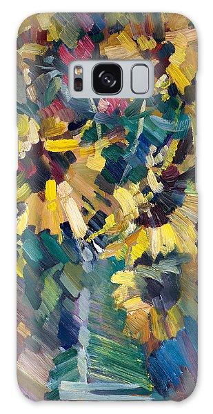 Green Galaxy Case - Sunflowers by Nikolay Malafeev