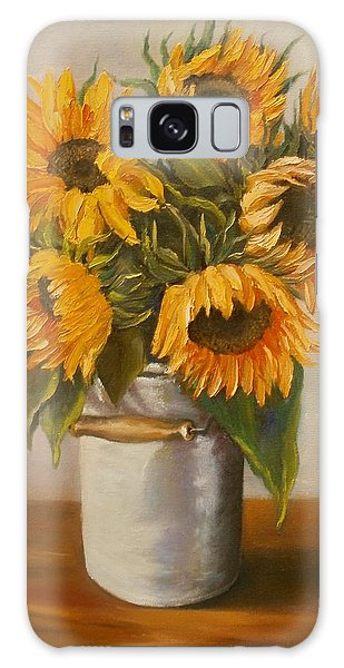 Sunflowers Galaxy Case by Nina Mitkova