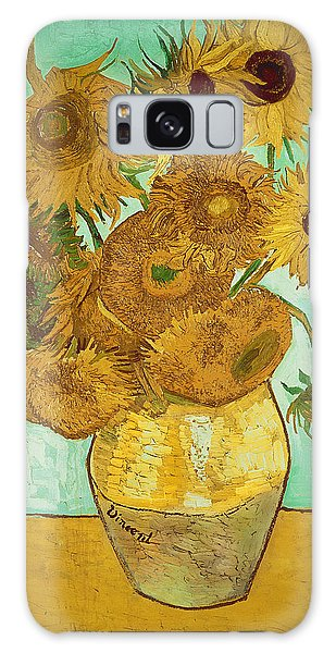 Impressionism Galaxy Case - Sunflowers By Van Gogh by Vincent Van Gogh
