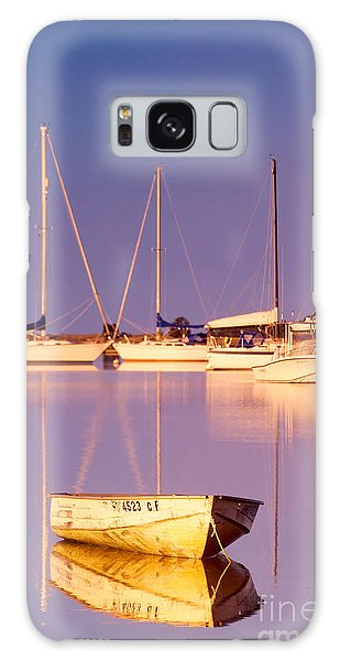 Powerboat Galaxy Case - Sunrise At West Bay Osterville Cape Cod by Matt Suess