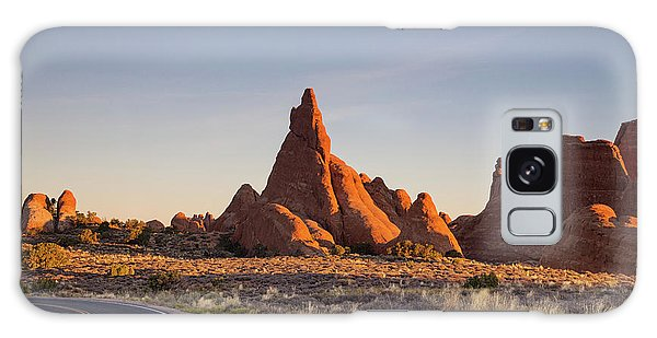 Sunrise In Arches National Park Galaxy Case