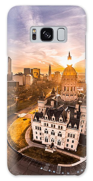 Sunrise In Hartford, Connecticut Galaxy Case by Petr Hejl