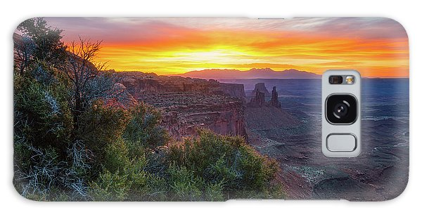 Sunrise Over Canyonlands Galaxy Case by Darren White
