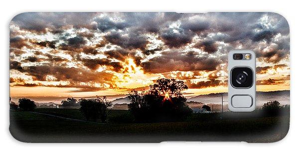 Sunrise Over Fields Galaxy Case
