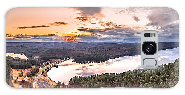 Sunset At Saville Dam - Barkhamsted Reservoir Connecticut Galaxy Case by Petr Hejl