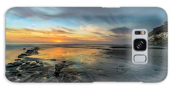 Tides Galaxy Case - Sunset At Swamis Beach by Larry Marshall