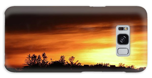 Sunset Behind The Clouds  Galaxy Case