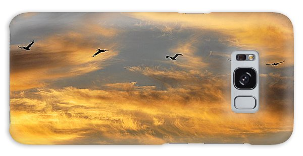 Galaxy Case featuring the photograph Sunset Flight by AJ Schibig
