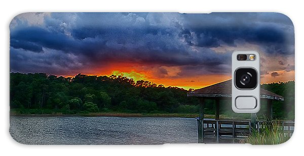 Galaxy Case featuring the photograph Sunset Huntington Beach State Park by Bill Barber