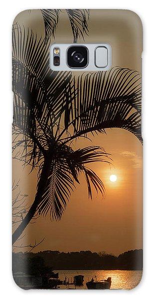 sunset Huong river Galaxy Case