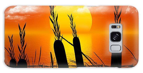 Sunset Lake Galaxy Case by Robert Orinski