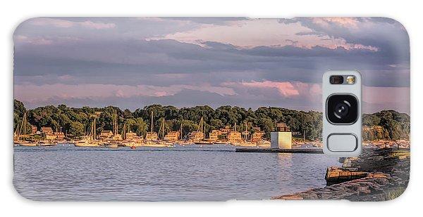 Sunset On Salem Harbor Galaxy Case