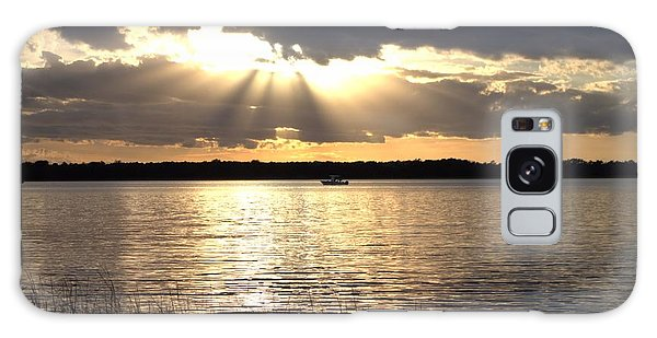 Sunset On The Cape Fear River Galaxy Case