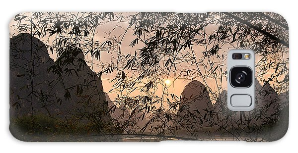 Sunset On The Li River Galaxy Case