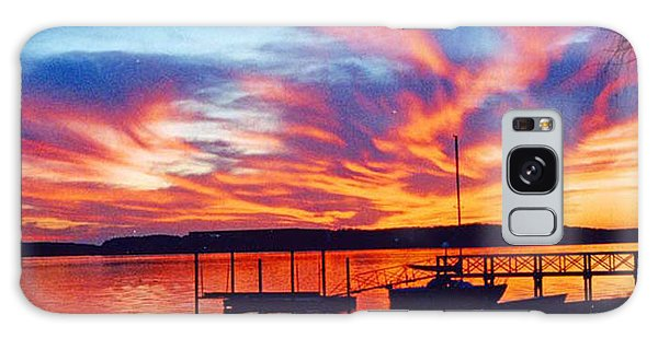 Sunset Over Lake Murray Galaxy Case