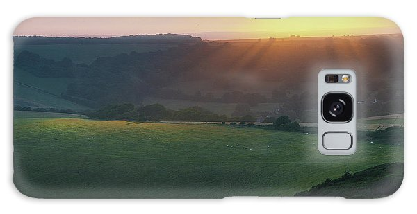 Sunset Over The South Downs Galaxy Case