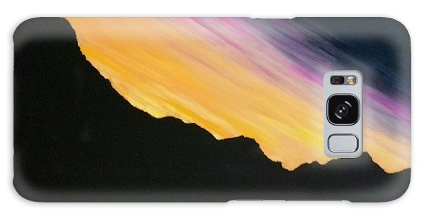 Galaxy Case featuring the painting Sunset Silhouette by Kevin Daly