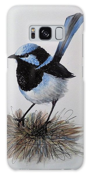 Superb Blue Wren Galaxy Case