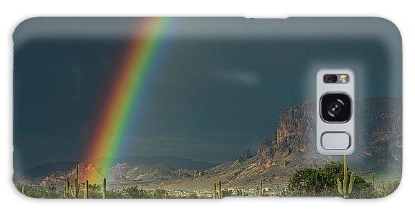 Galaxy Case featuring the photograph Superstition Rainbow  by Saija Lehtonen