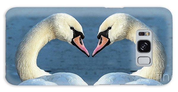 Swans Portrait Galaxy Case