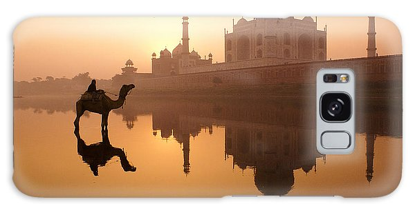 Taj Mahal At Sunrise Galaxy Case