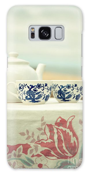 Picnic Table Galaxy Case - Tea For Two by Edward Fielding