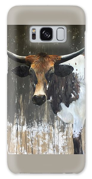 Cow Galaxy S8 Case - Texas Longhorn by Cheryl Green