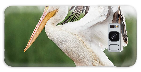 Galaxy Case featuring the photograph The Amazing American White Pelican  by Ricky L Jones