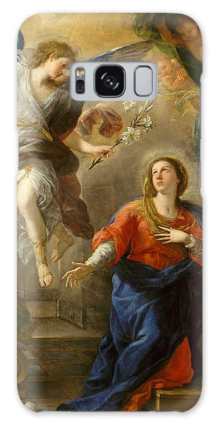 Annunciation Galaxy Case - The Annunciation by Luca Giordano