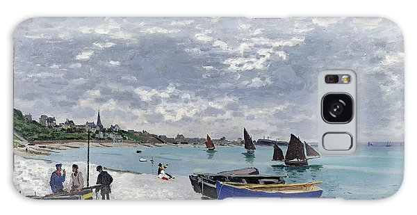 French Galaxy Case - The Beach At Sainte Adresse by Claude Monet
