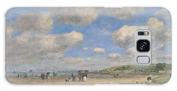 The Beach At Tourgeville Les Sablons Galaxy Case