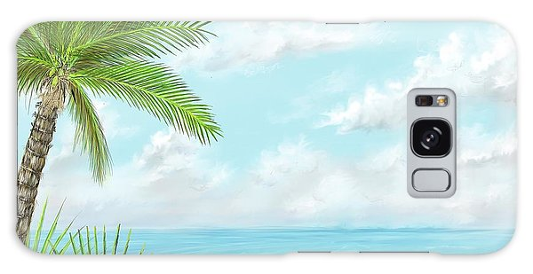 Galaxy Case featuring the digital art The Beach by Darren Cannell