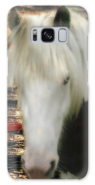 The Beautiful Face Of A Gypsy Vanner Horse Galaxy Case