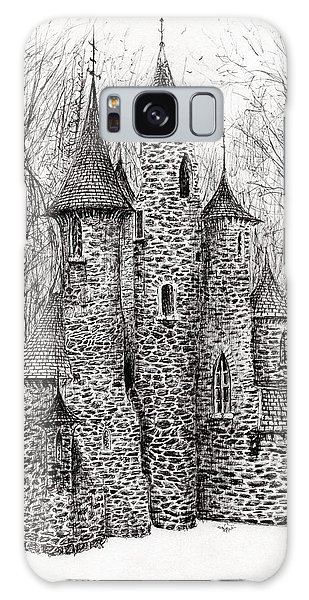 Pen And Ink Drawing Galaxy Case - The Castle In The Forest Of Findhorn by Vincent Alexander Booth