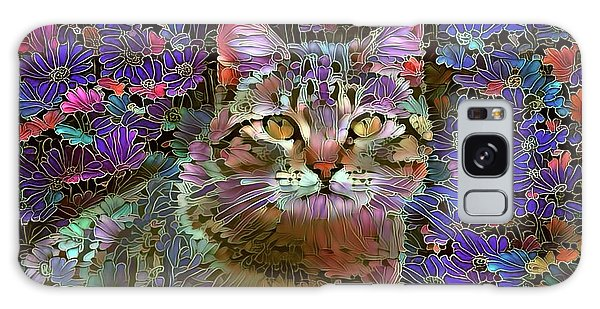 The Cat Who Loved Flowers 2 Galaxy Case