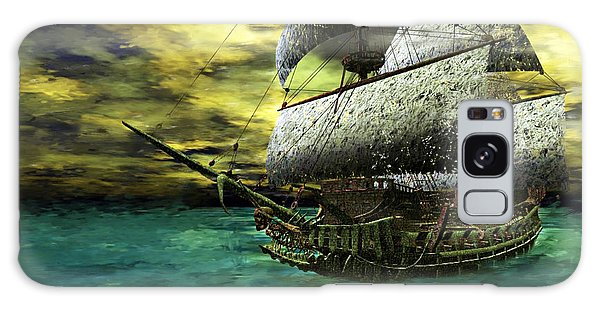 Galaxy Case featuring the painting The Flying Dutchman by Sandra Bauser Digital Art