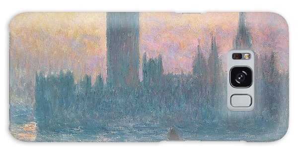 Houses Of Parliament Galaxy Case - The Houses Of Parliament  Sunset by Claude Monet