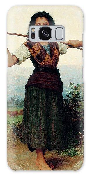 Amaryllis Galaxy Case - The Little Shepherdess by Adolphe William Bouguereau