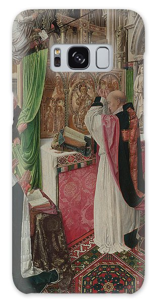 The Mass Of Saint Giles Galaxy Case by Master of Saint Giles