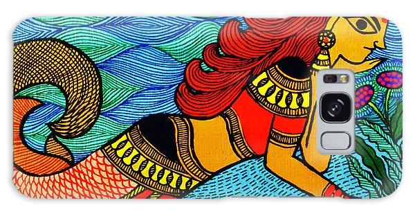 Madhubani Galaxy Case - The Mermaid In Madhubani by Shishu Suman
