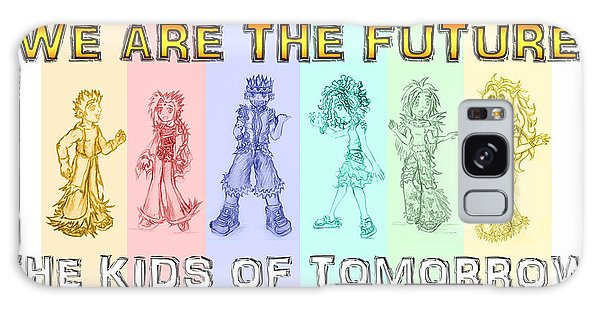 Galaxy Case featuring the drawing The Proud Kids Of Tomorrow 3 by Shawn Dall
