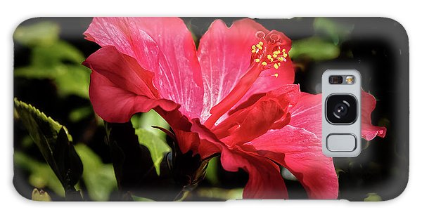 The Red Hibiscus Galaxy Case by Robert Bales