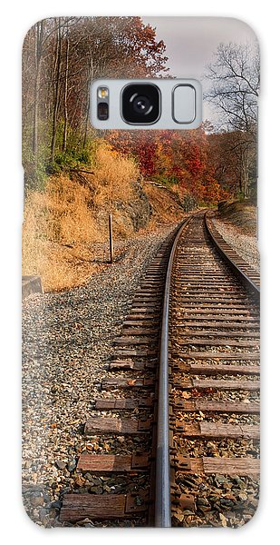 Galaxy Case featuring the photograph The Tracks In The Fall by Mark Dodd