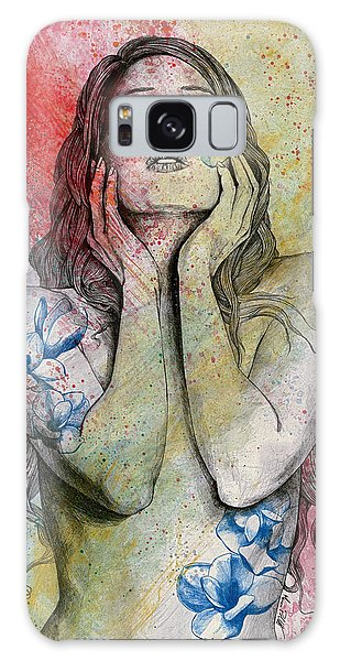 Beautiful Girl Galaxy Case - The Withering Spring by Marco Paludet