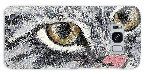 Tiger Cat Galaxy Case by Reina Resto